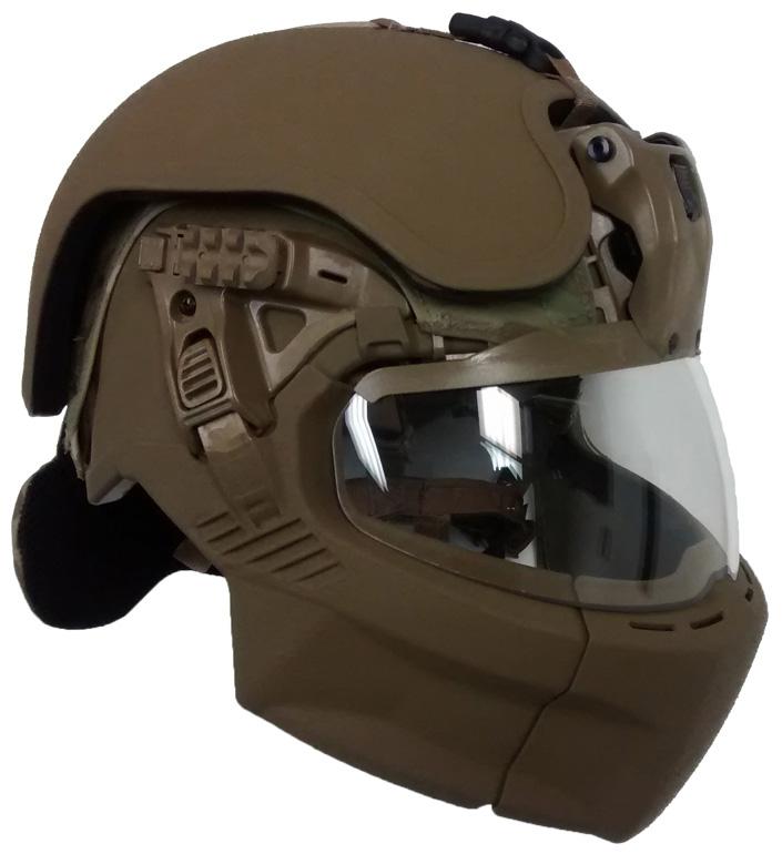 Он похож на шлемы из компьютерных игр и фантастических фильмов