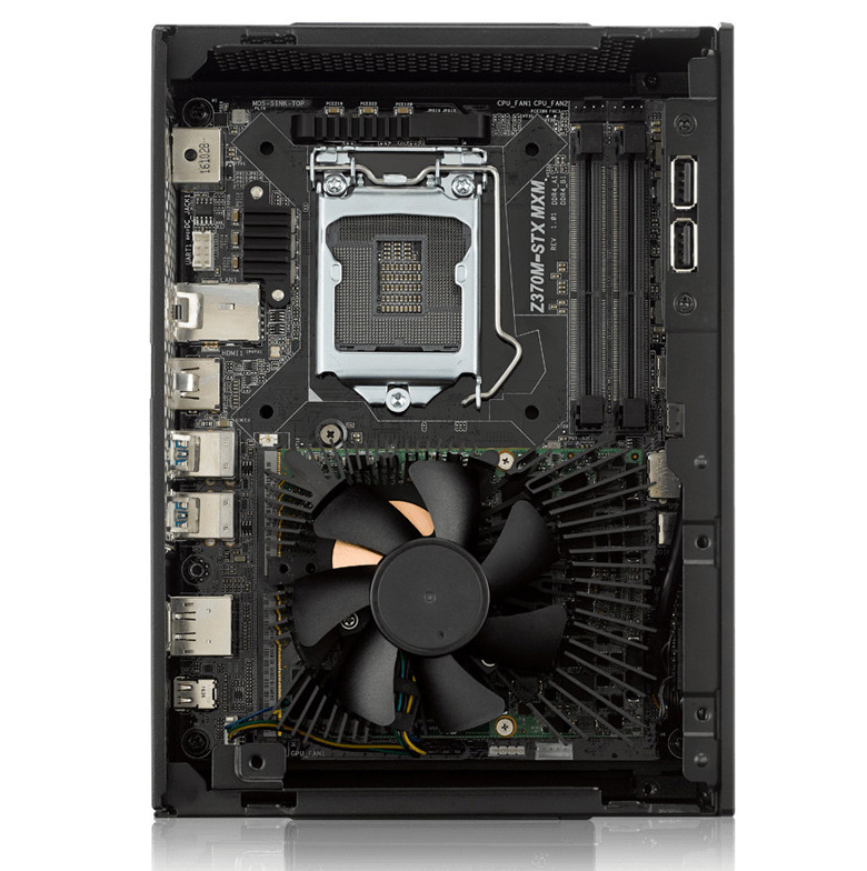 В них установлена плата Z370M-STX MXM на чипсете Intel Z370