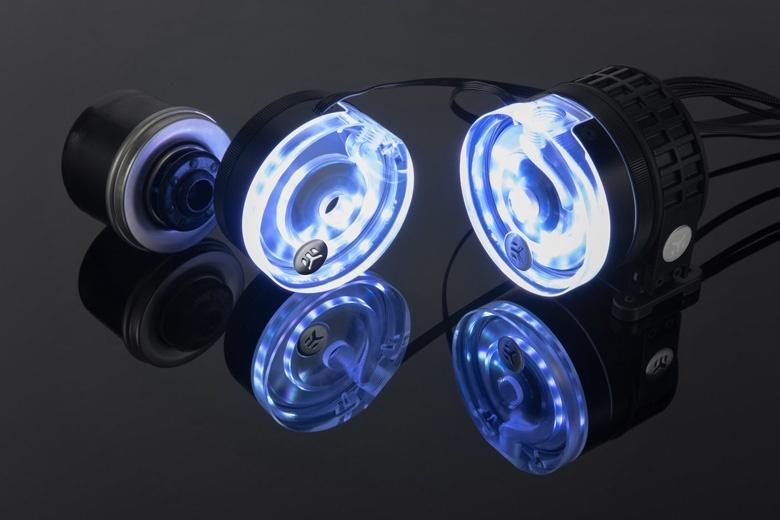Цена помпы EK-XTOP Revo D5 RGB PWM – Plexi равна 130 евро