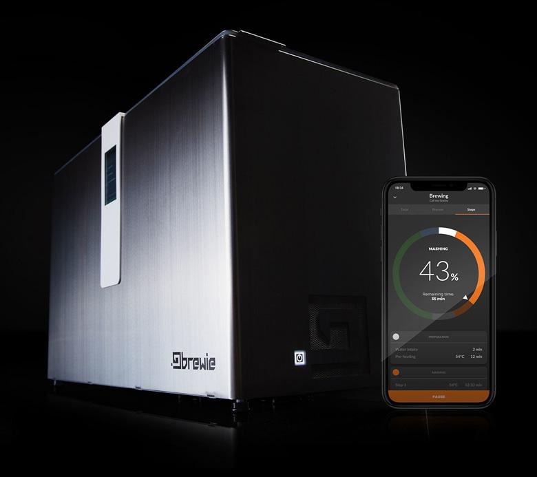 Управлять работой Brewie+ и наблюдать за процессом можно с помощью мобильного приложения