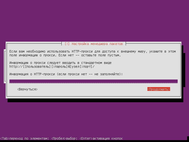 Установка Ubuntu Server 16.04.3 LTS (Шаг 18)