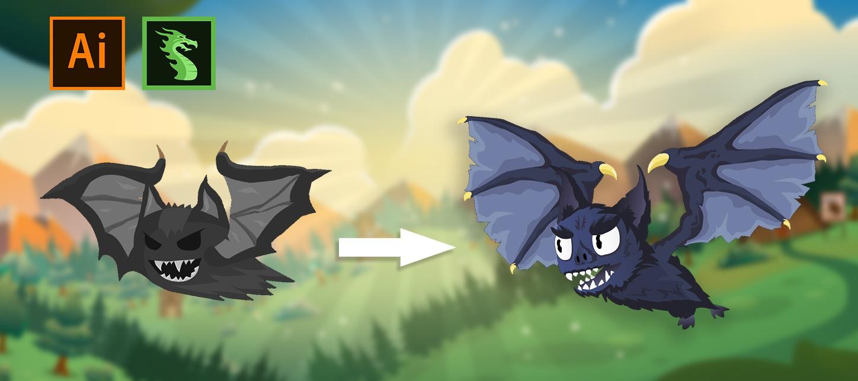 Dragon Bones: создание 2D персонажа и скелетная, mesh-анимация - 1