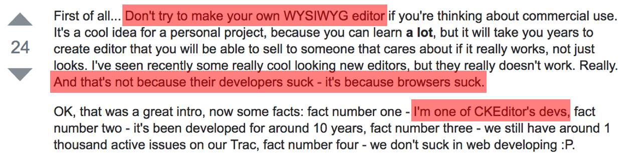 Разработка Rich Text Editor: проблемы и решения - 1