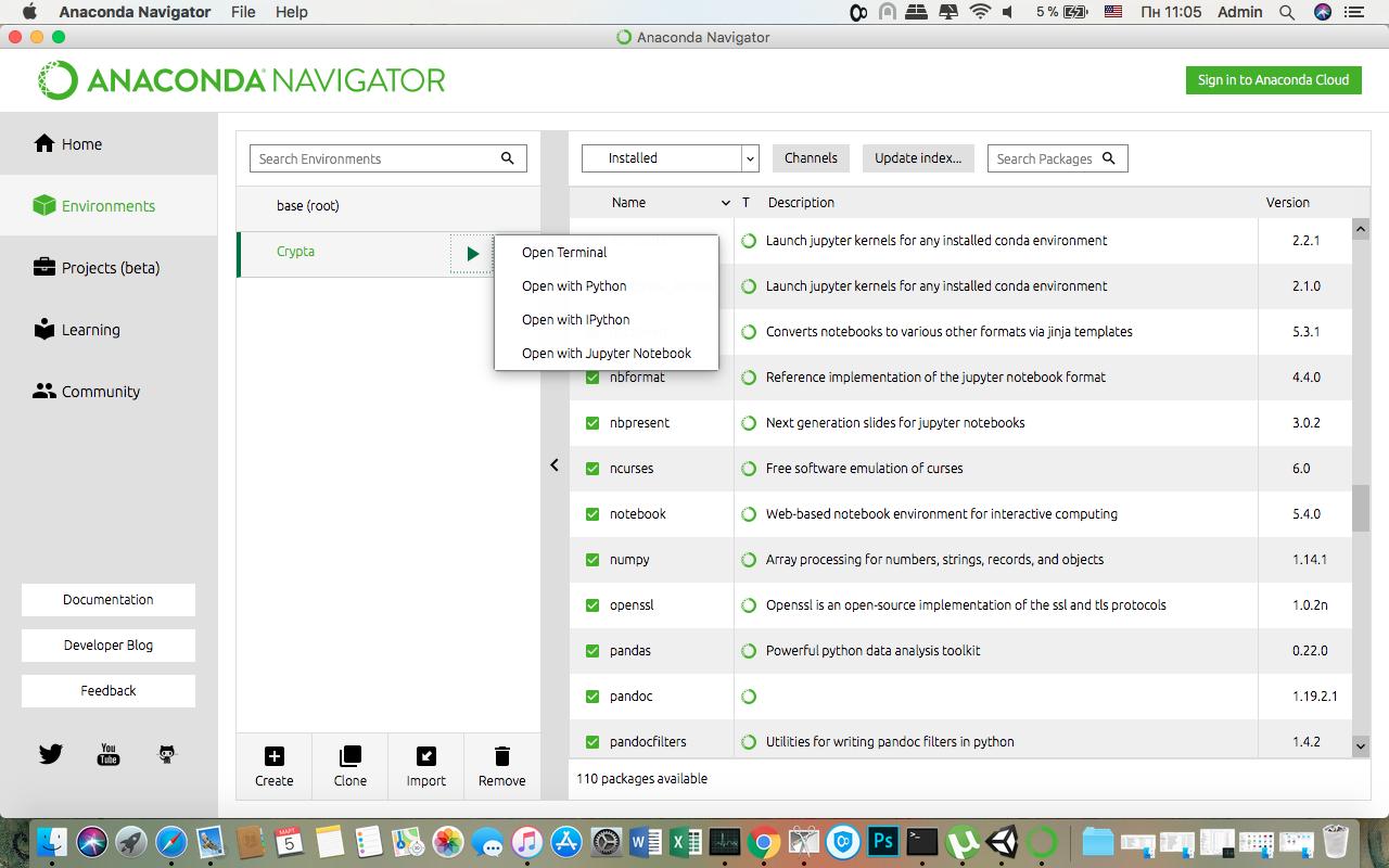 Работа с Anaconda на примере поиска корреляции курсов криптовалют - 4