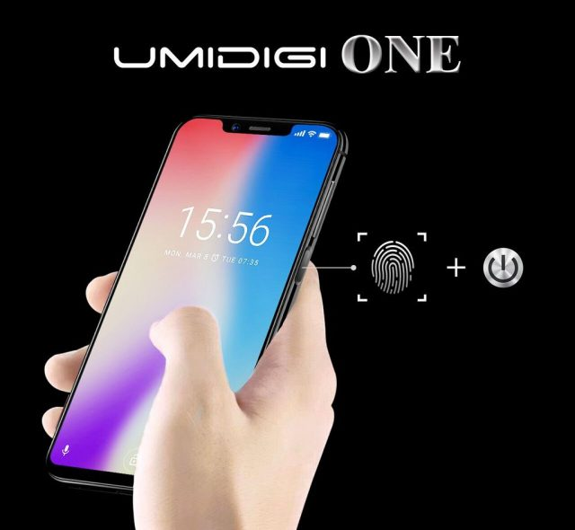 Смартфон Umidigi One получил дизайн в стиле iPhone X и дактилоскопический датчик на боковой панели
