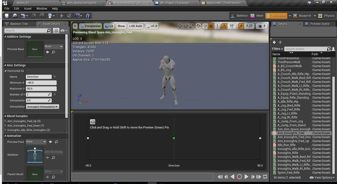 Как создать анимацию прицеливания и как нарезать анимацию в игровом движке Unreal Engine 4 - 4