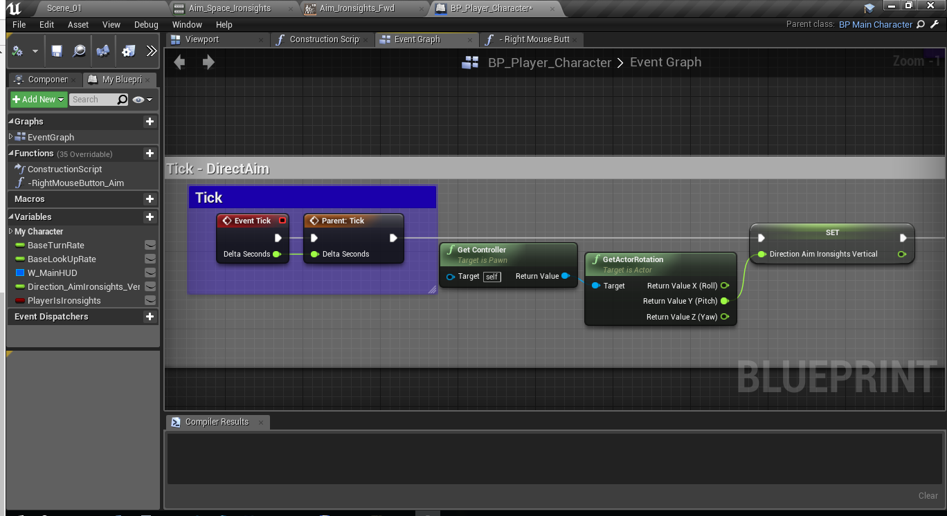 Как создать анимацию прицеливания и как нарезать анимацию в игровом движке Unreal Engine 4 - 5