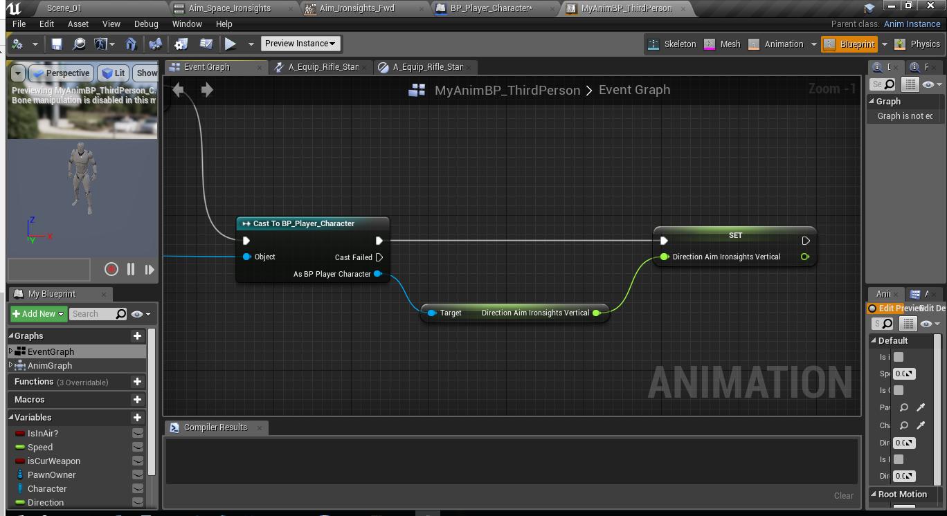 Как создать анимацию прицеливания и как нарезать анимацию в игровом движке Unreal Engine 4 - 6