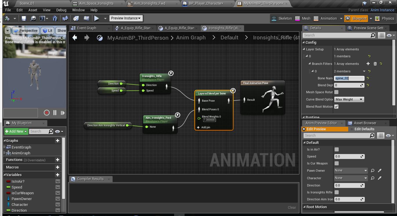 Как создать анимацию прицеливания и как нарезать анимацию в игровом движке Unreal Engine 4 - 8