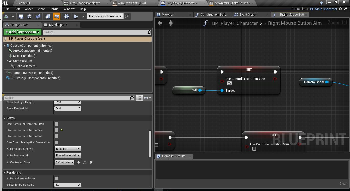 Как создать анимацию прицеливания и как нарезать анимацию в игровом движке Unreal Engine 4 - 9