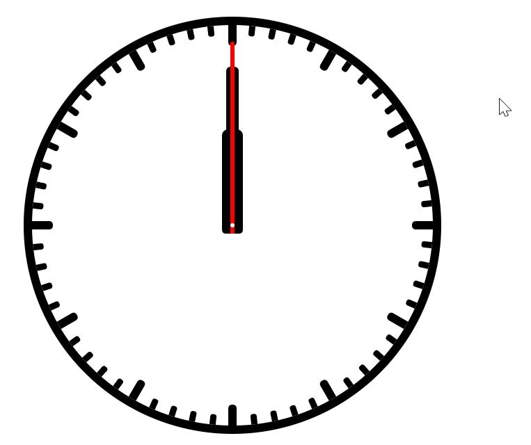 Аналоговые часы, CSS и ничего больше - 3