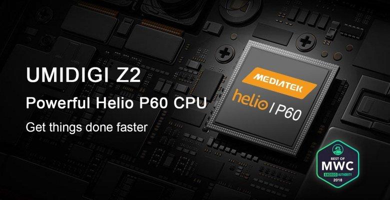 Смартфон Umidigi Z2 получил SoC Helio P60 при цене $300