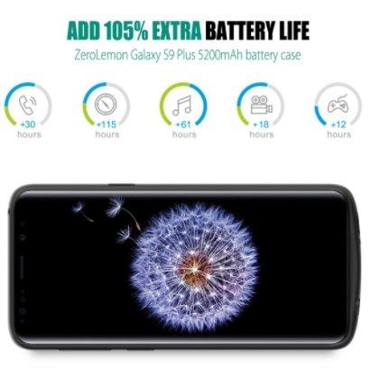 Чехол ZeroLemon для смартфона Samsung Galaxy S9+ располагает аккумулятором ёмкостью 5200 мА·ч - 2