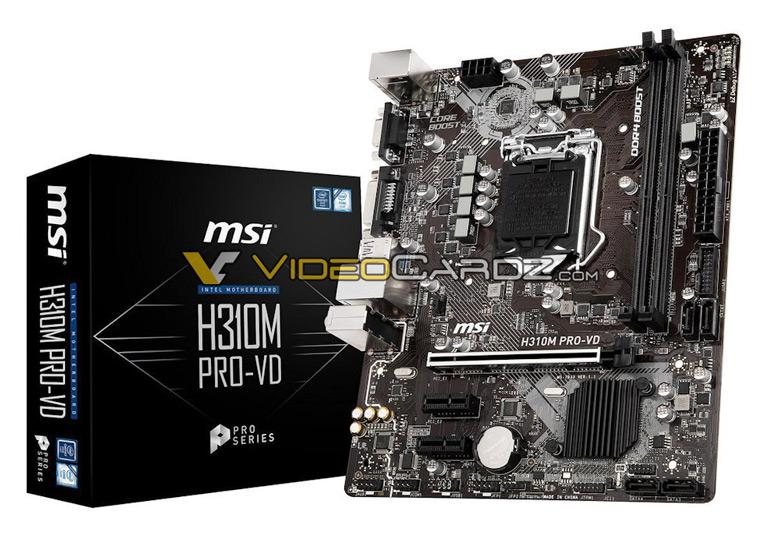 Галерея дня: системные платы MSI на чипсетах Intel B360, H370 и H310