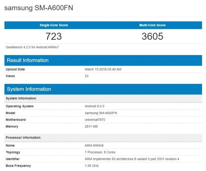 Судя по всему, Samsung готовится выпустить смартфоны Galaxy A6 и A6+, нарушив собственную новую логику именования моделей - 1