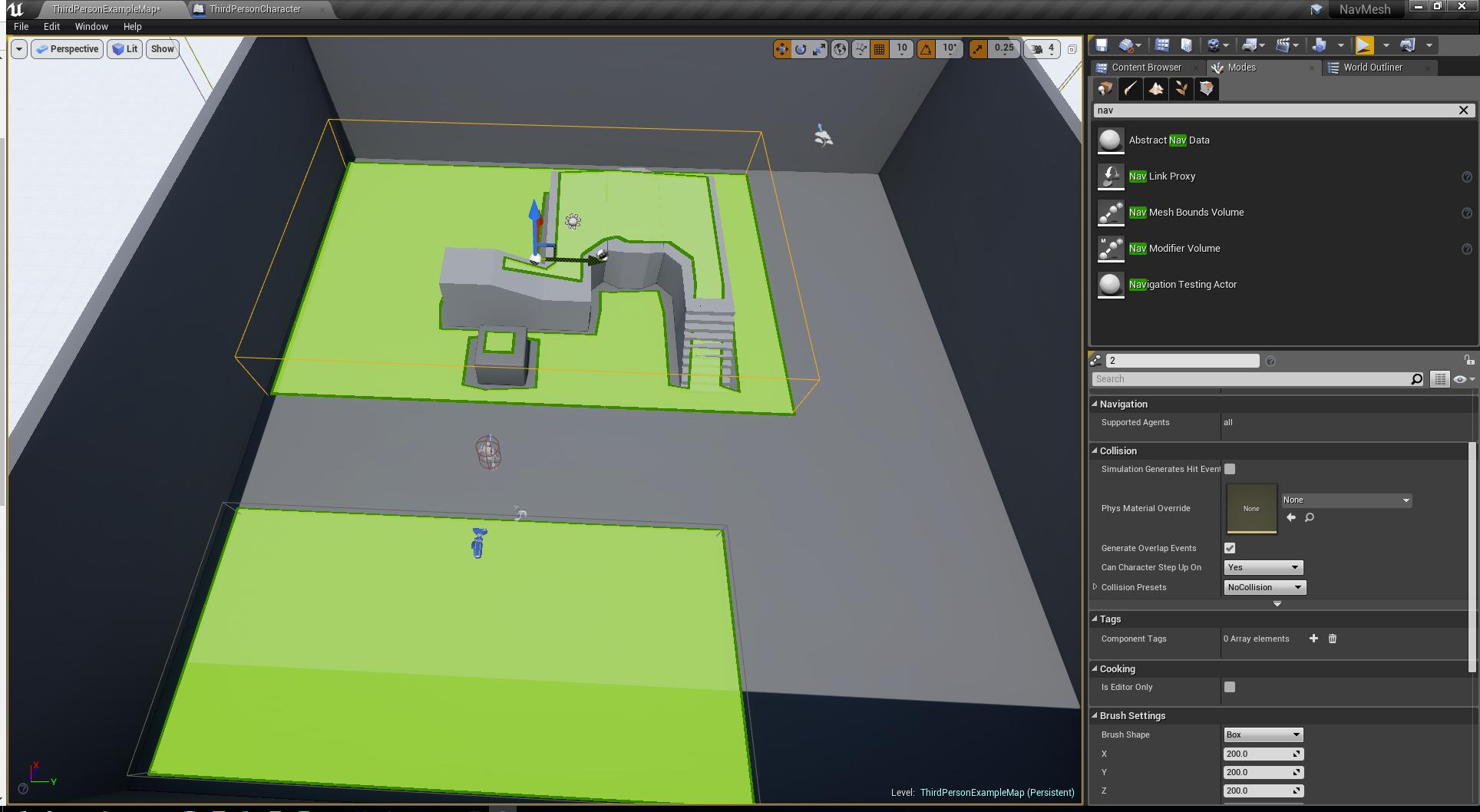 Unreal Engine 4 — как устроенна навигация в NavMeshBoundsVolume - 1