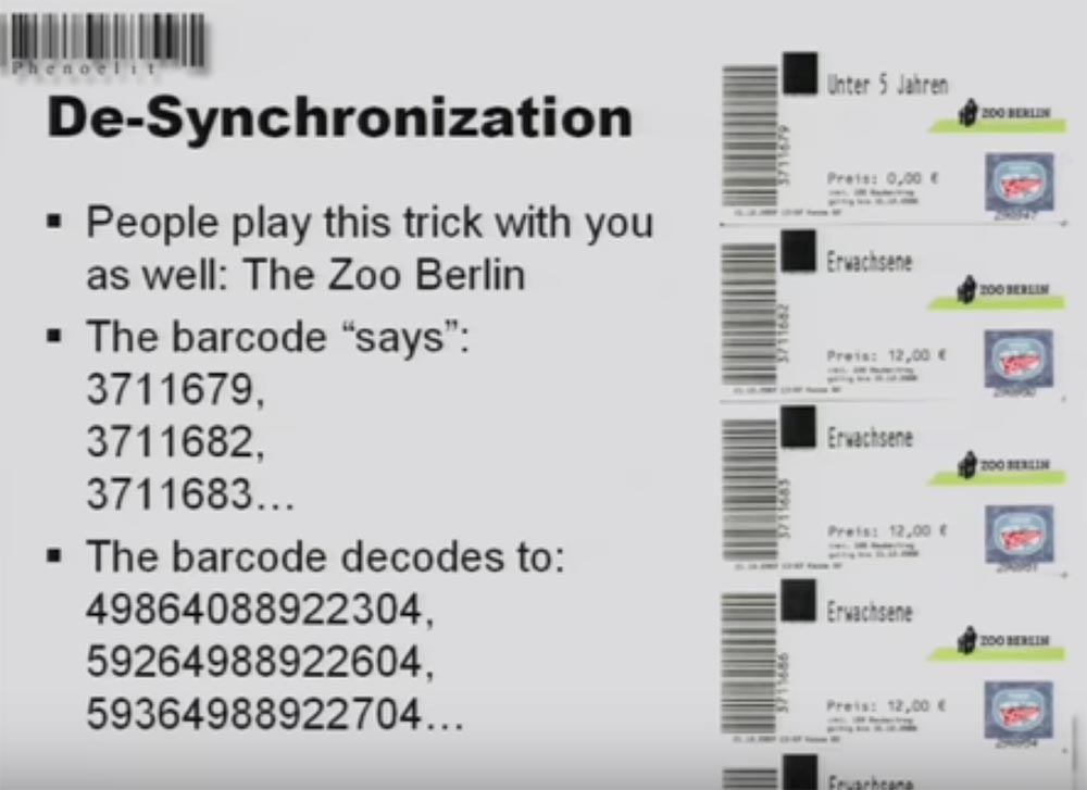 Конференция DEFCON 16. «Игры с баркодами». Феликс Линднер, глава Recurity Labs - 18