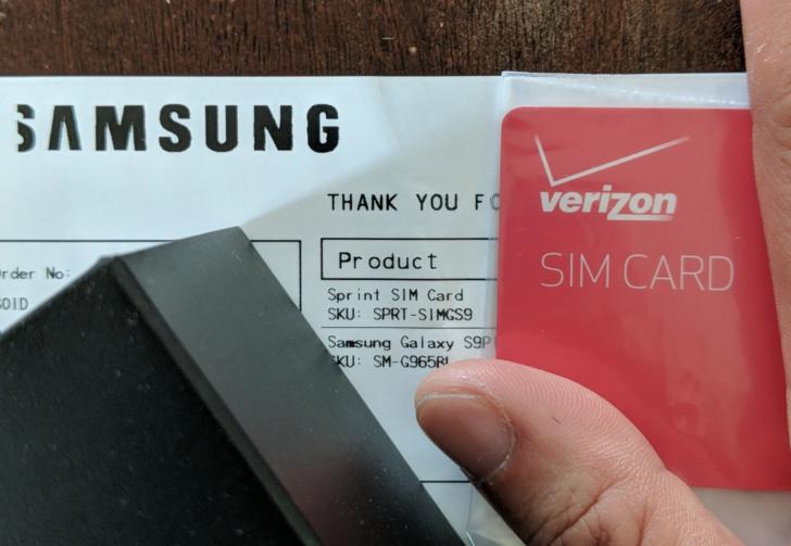 Некоторые американские покупатели Samsung Galaxy S9 обнаружили в коробке со смартфоном SIM-карту не того оператора