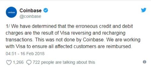 Владельцы криптовалютных кошельков Coinbase столкнулись с двойными списаниями комиссий из-за особенностей работы Visa - 2