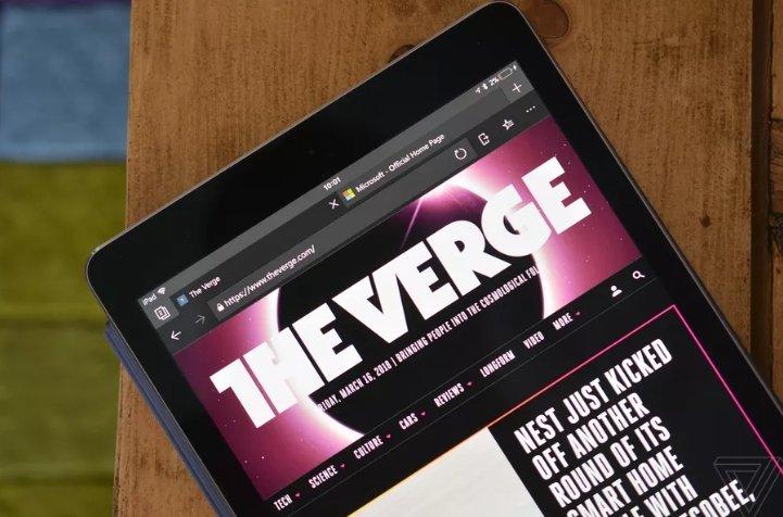 Microsoft Edge теперь можно установить на iPad