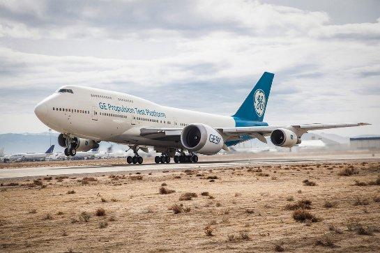 GE тестирует самый большой в мире реактивный двигатель