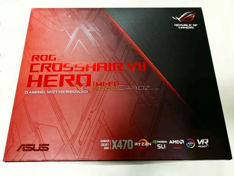 Появилось изображение упаковки системной платы Asus ROG X470 Crosshair Hero VII