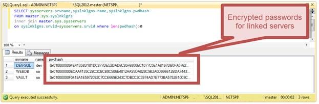 Расшифровка сохранённых паролей в MS SQL Server - 1