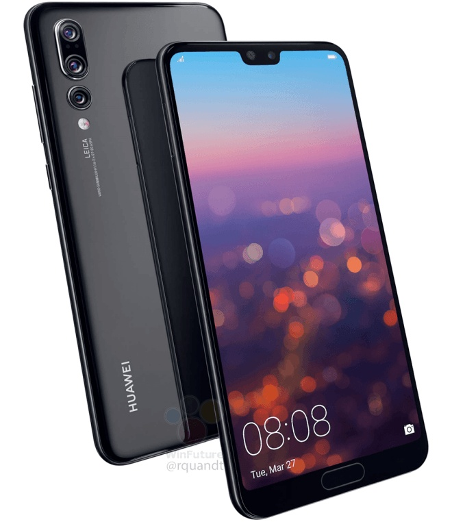 Камера смартфона Huawei P20 Pro получила пятикратный зум и датчики изображения разрешением 40, 8 и 20 Мп