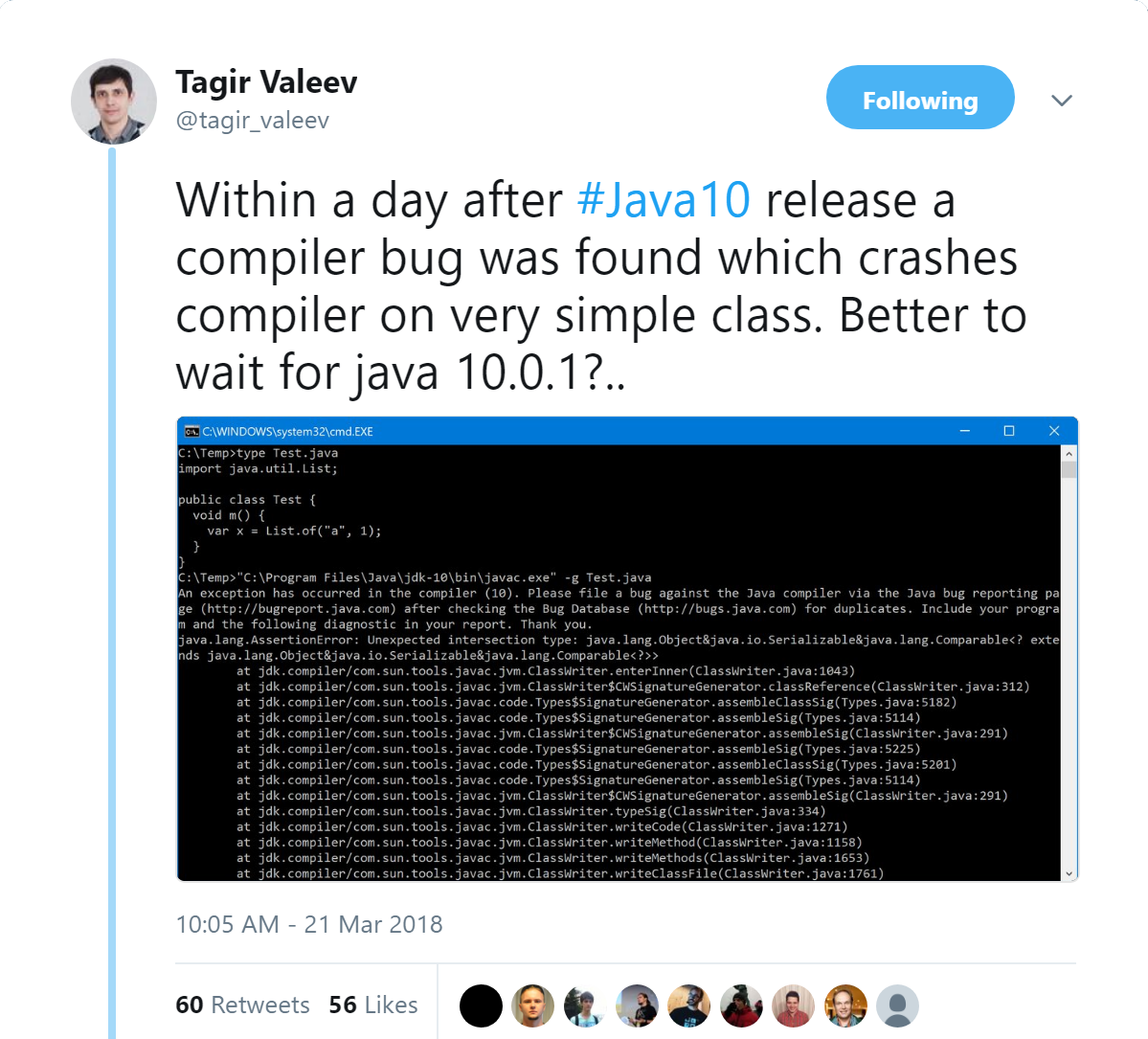 Java 10 General Availability - 3