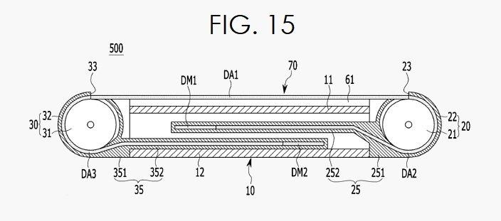 Samsung запатентовала смартфон с экраном переменной диагонали