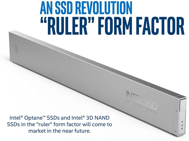 SSD форм-фактора ruler