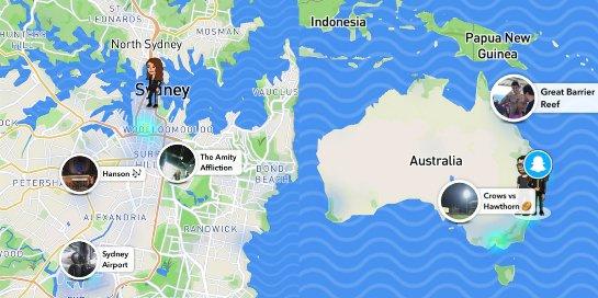Snapchat's Map Explore упрощает поиск друзей