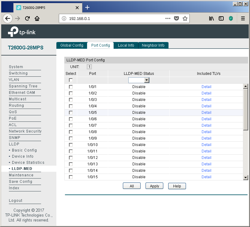 TP-Link T2600G-28MPS: работа с PoE, LLDP и Voice VLAN - 15