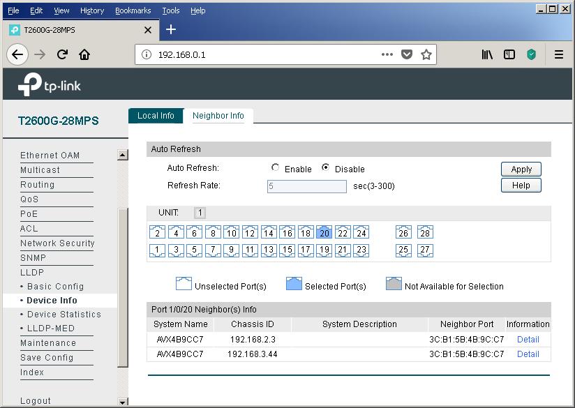 TP-Link T2600G-28MPS: работа с PoE, LLDP и Voice VLAN - 20