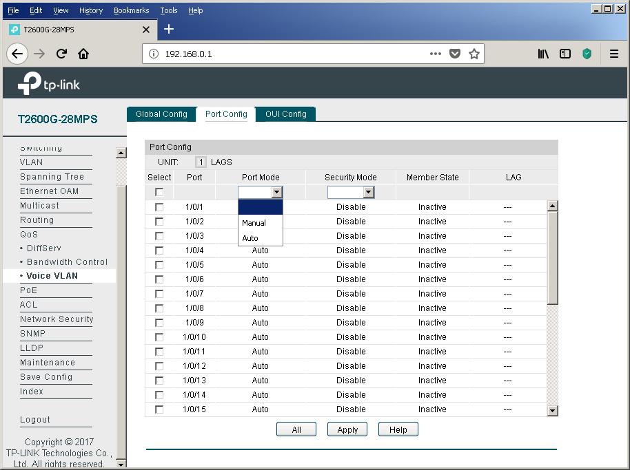 TP-Link T2600G-28MPS: работа с PoE, LLDP и Voice VLAN - 33