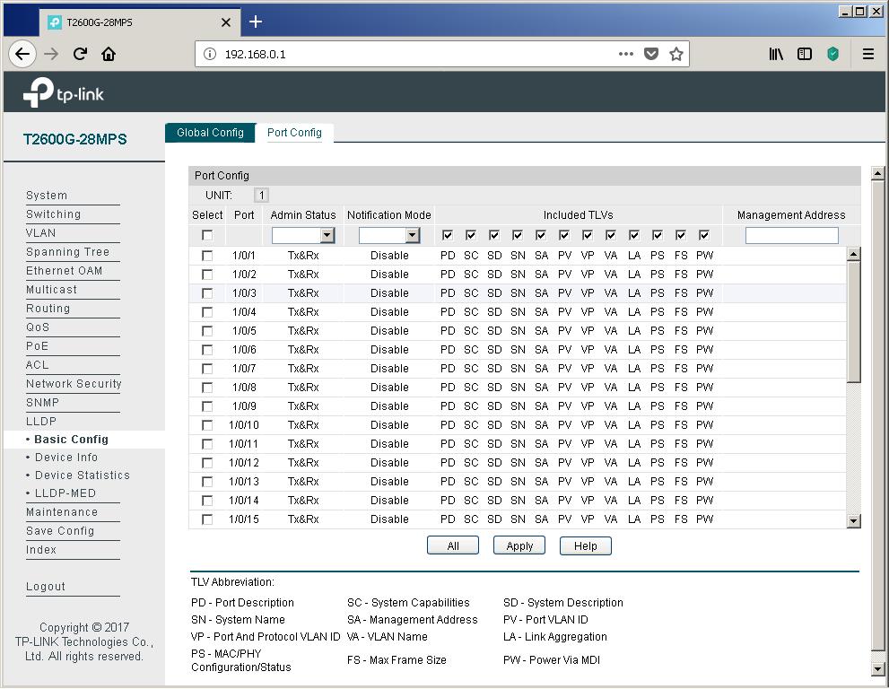 TP-Link T2600G-28MPS: работа с PoE, LLDP и Voice VLAN - 8