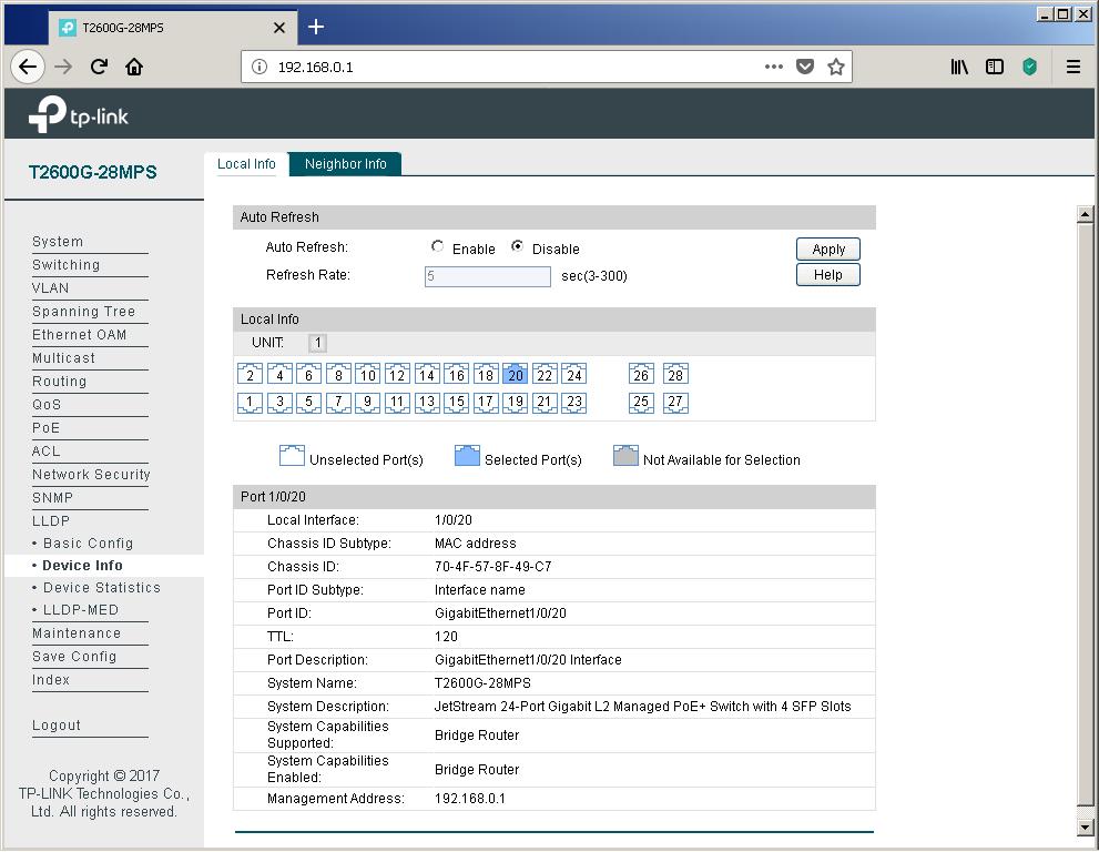 TP-Link T2600G-28MPS: работа с PoE, LLDP и Voice VLAN - 9