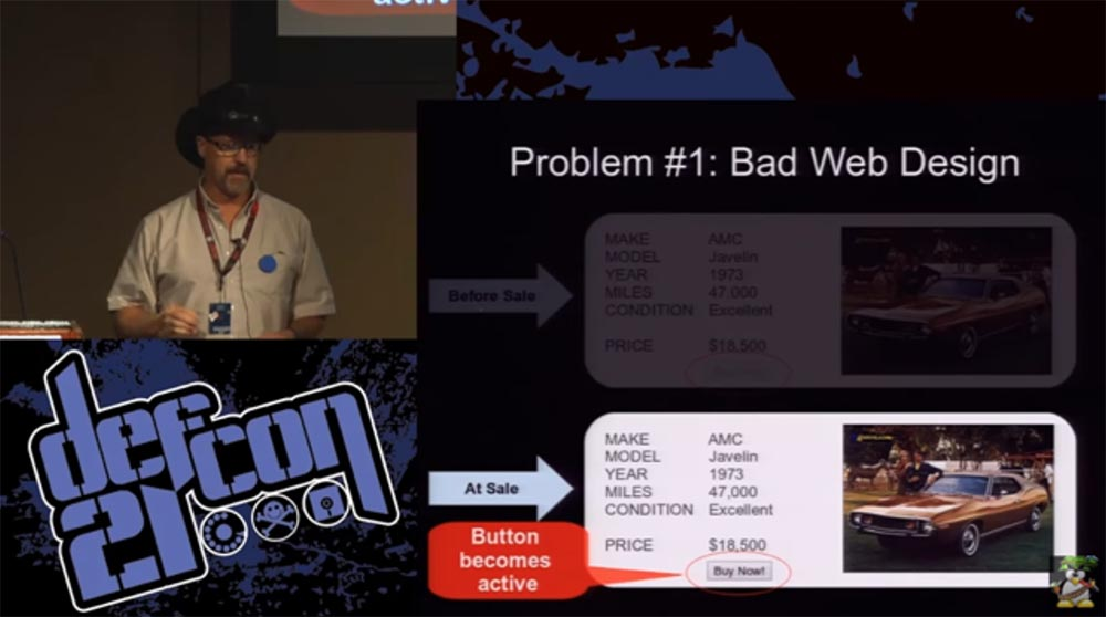 Конференция DEFCON 21. «Как мой Ботнет заработал миллионы долларов на продаже автомобилей и победил русских хакеров» - 2