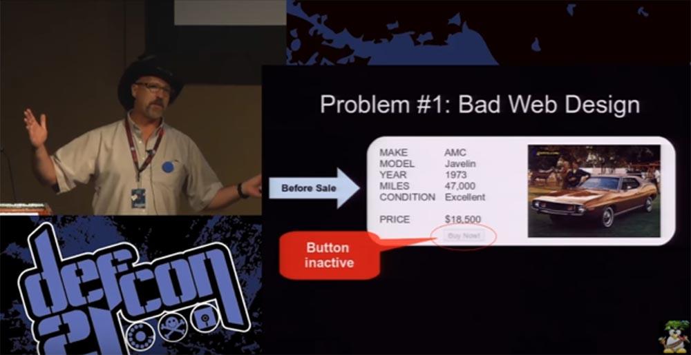 Конференция DEFCON 21. «Как мой Ботнет заработал миллионы долларов на продаже автомобилей и победил русских хакеров» - 1