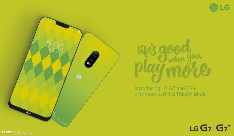 Опубликованы характеристики смартфонов LG G7 и G7+, которые будут поддерживать модули LG ThinQ Mods