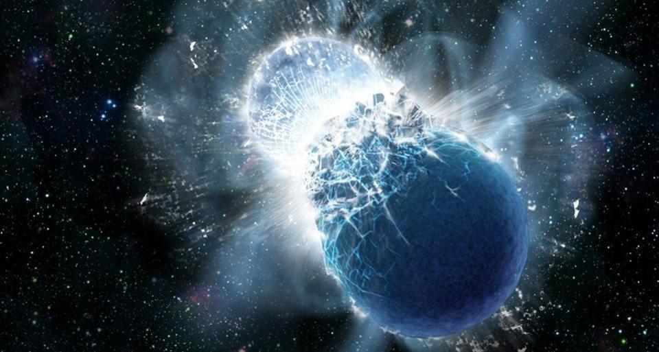 Спросите Итана: почему свет прибыл на 1,7 секунды позже гравитационных волн при слиянии нейтронных звёзд? - 2