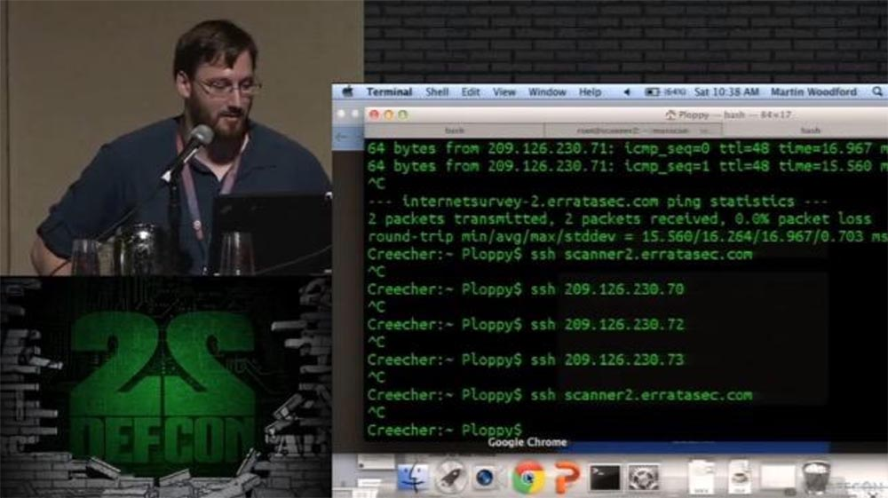 Конференция DEFCON 22. «Массовое сканирование Интернет через открытые порты». Роберт Грэхам, Пол МакМиллан, Дэн Тэнтлер - 10