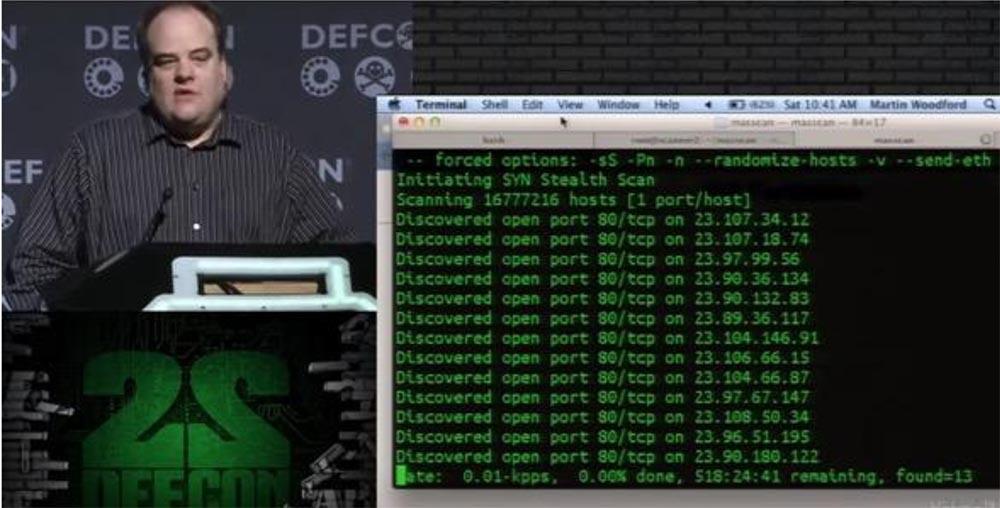 Конференция DEFCON 22. «Массовое сканирование Интернет через открытые порты». Роберт Грэхам, Пол МакМиллан, Дэн Тэнтлер - 12