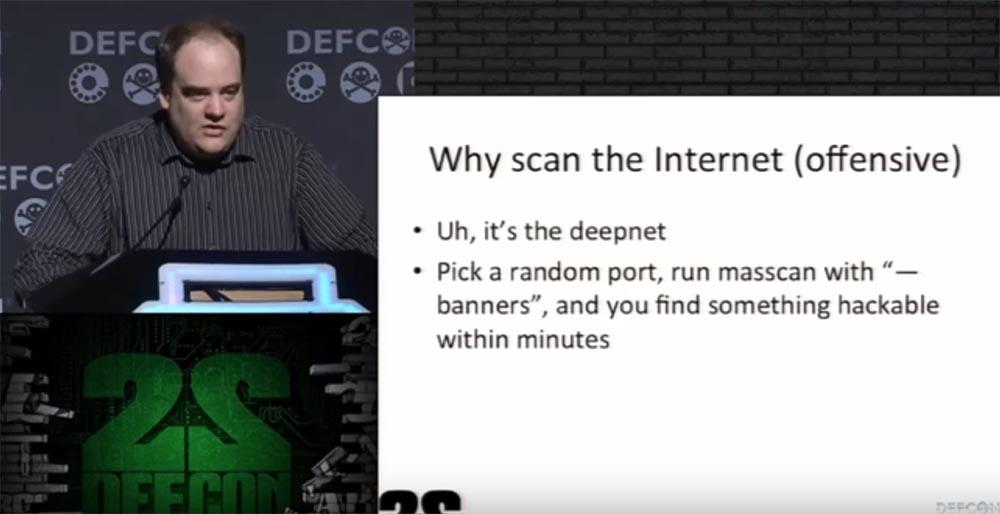 Конференция DEFCON 22. «Массовое сканирование Интернет через открытые порты». Роберт Грэхам, Пол МакМиллан, Дэн Тэнтлер - 2