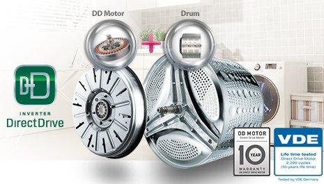 LG выпустила 70 млн инверторных моторов с прямым приводом для стиральных машин