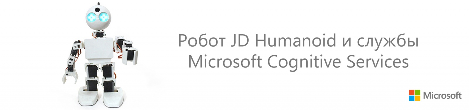 Робот JD Humanoid и службы Microsoft Cognitive Services - 1