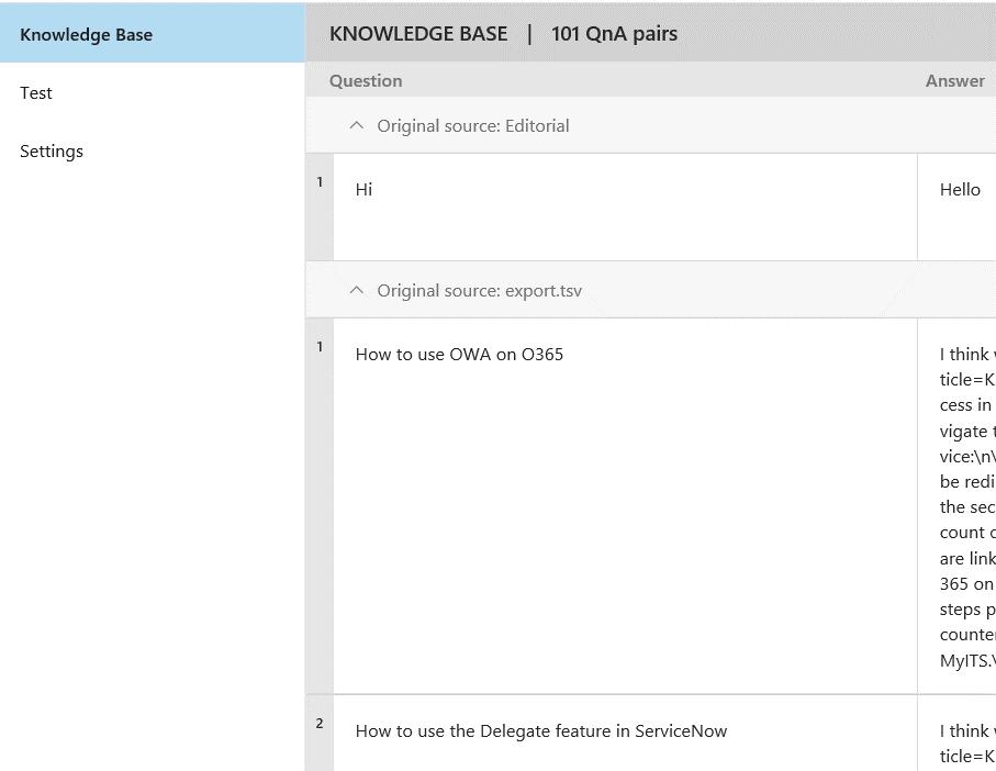 Создание чатбота с использованием Q&A Maker и Microsoft Graph - 7