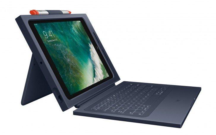 Защитный чехол Logitech Rugged Combo 2 для нового iPad с клавиатурой и отделением для стилуса стоит $100