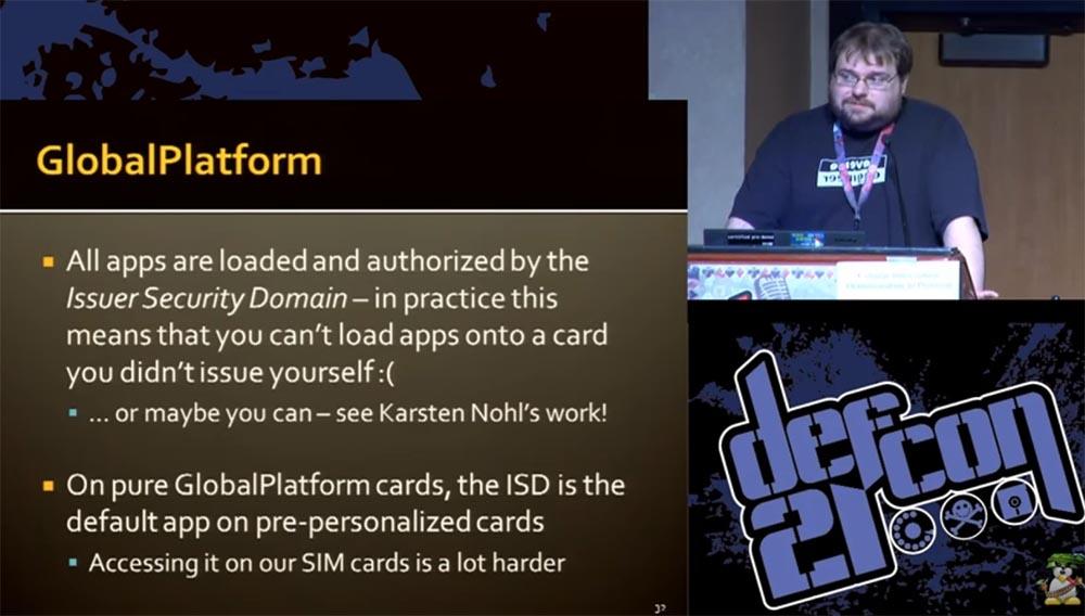 """Конференция DEFCON 21. """"Секретная жизнь SIM карт"""". Эрик Батлер, Карл Кошер - 15"""