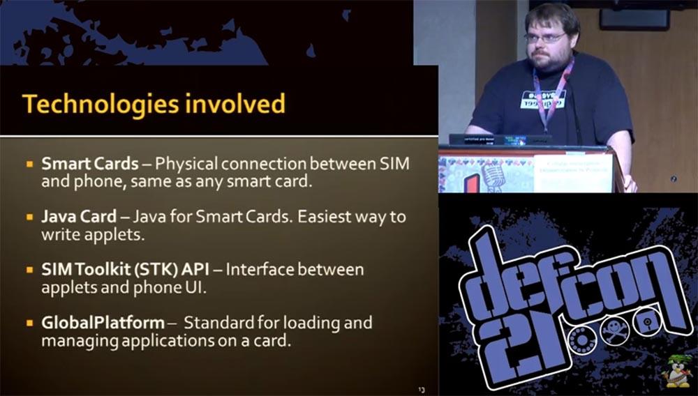 """Конференция DEFCON 21. """"Секретная жизнь SIM карт"""". Эрик Батлер, Карл Кошер - 6"""